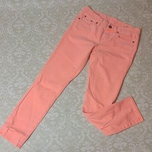 J. Crew Toothpick light Coral colored pants sz 27